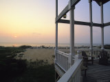 View of Sunset from the Deck of a Beach Cottage
