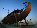Olympias  Replica of Ancient Greek Warship in Dry Dock Near Athens
