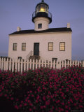 Early Morning Light on Old Point Loma Lighthouse in San Diego  California