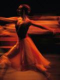 Portrait of a Ballet Dancer Bathed in Red Light  Nairobi  Kenya