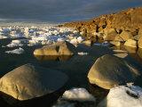 Chunks of Ice and Large Rocks Along the Hudson Bay Shore of Wapusk
