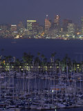 Shelter Island Yacht Harbor with Skyline of San Diego  California