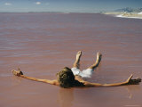 Swimmer Floating in the Great Salt Lake