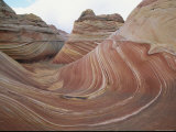 Erosion Has Created a Swirling Pattern in the Rocks