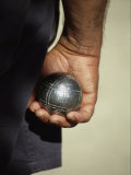 Bocce Bowler Holding a Ball