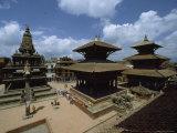 Durbar Square Showing the Statue of Garuda  Kathmandu Valley  Nepal