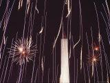 Fourth of July Fireworks and the Washington Monument  Washington  DC