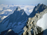 A Man on Mount Combatant  Coast Range  British Columbia
