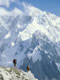 Two Hikers in Charakusa Valley  Karakoram  Pakistan