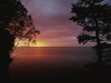 A Sunset over Lake Superior in the Apostle Islands