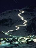 Skiers Bearing Torches Ski Down Mont Blanc Glaciers to Val Disere