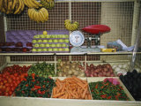 Outdoor Mexican Market Selling Fruits and Vegetables