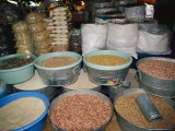 Mexican Seeds and Beans for Sale in an Outdoor Market