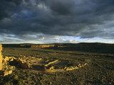 Twilight View of the Anasazi Ruins at Pueblo Bonito