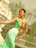 A Dancer Performs at the Chinese Ethnic Culture Park