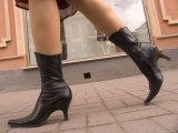 A Woman Shops on Nevsky Prospect