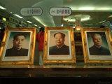 Portraits of Chou En Lai  Mao Tse Tung and Liu Shaoqi
