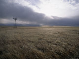 Prairie Land with Windmill  Wyoming