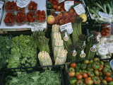A Farmer's Market Selling Vegetables in Venice  Italy