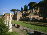 The Ruins of the Garden of the Vestal Virgins in the Roman Forum
