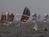 Spinnakered Boats Race in the Plattsburgh Mayor's Cup  Lake Champlain