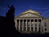 The Rebuilt Munich Opera House on a Summer Day  Munich  Germany