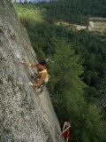 Climber Inches up a 600-Foot Climb Called Inferno  White Horse Ledge  New Hampshire