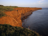 The Red Cliffs of Prince Edward Island at Sunset Glow  Prince Edward Island  Canada