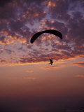 Paragliders at Sunset  Step Toe State Park  Washington  USA