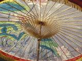 Painted Umbrellas at the Loa Fire Rocket Festival  Seattle  Washington  USA