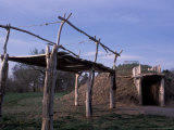 On-A-Slant Indian Village  Fort Abrham  Lincoln State Park  North Dakota  USA
