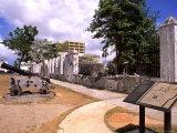 Old Buildings at Plaza de Espana  Hagatna City  Guam  USA