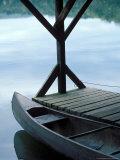 Canoe Docked in Morning Light