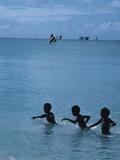 Children Swimming in the Sea  Martinique