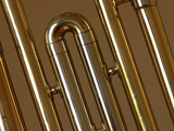 Close-up of a Brass Musical Instrument