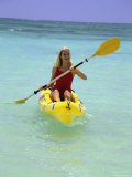 Woman Kayaking at Beach  HI