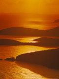 Sun Setting Over Harbor  St Thomas  VI