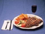 T-Bone Steak Dinner with Wine