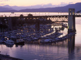 Burrard Bridge  Dusk  Vancouver  BC  Canada