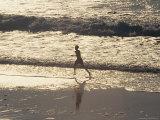 Boy Running on Beach  Venice Beach  CA