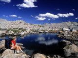 Hiker  Sierra Nevada Range  CA