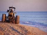 Tractor Plowing Beach  Miami Beach  FL