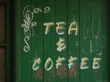Tea and Coffee Sign  London  England