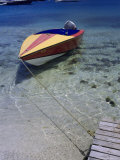 Water Taxi Tied to Dock  Bequia  Genadines
