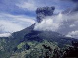 Tungurahua Volcano Erupting  Andes  Ecuador