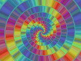 Abstract Multi-Coloured Spiral Design