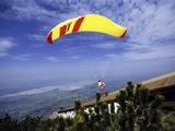 Paragliders Mount Tegelberg  West Germany
