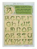 Art Nouveau Alphabet 1903