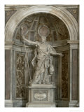 Statue of St Longinus  at the Base of the Four Pillars Supporting the Dome  1631-38