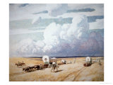 Covered Wagons Heading West